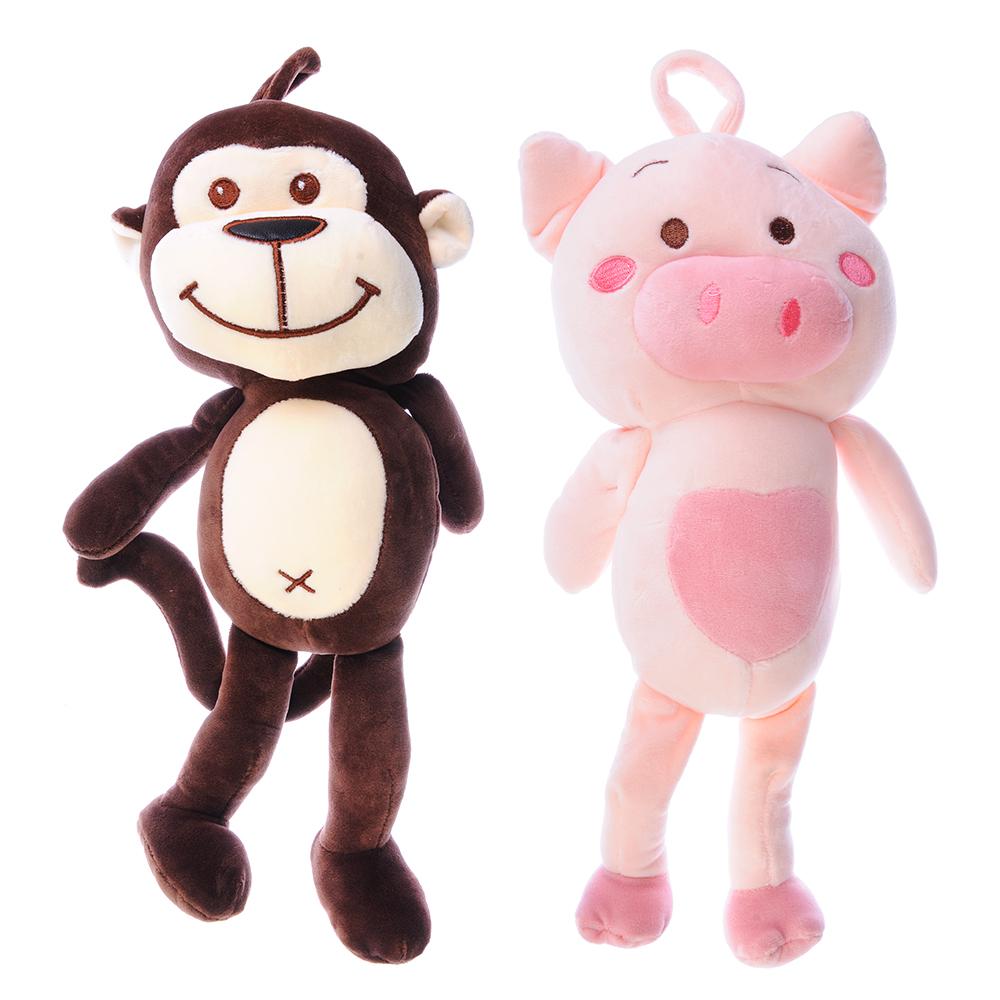 *Игрушка мягк. 264-176 обезьянка/поросенок 38см