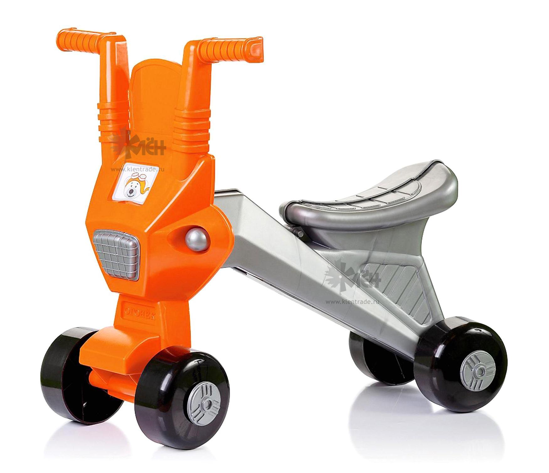 *Мотоцикл-Каталка С1439 Мишутка оранжевый