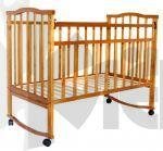 Кроватка детская Золушка-1 кол.+кач., светлый 52100