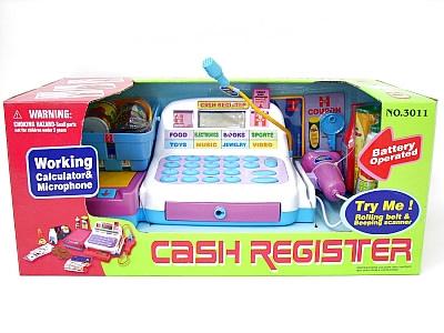*Касса игрушечн. 3011 с продуктами