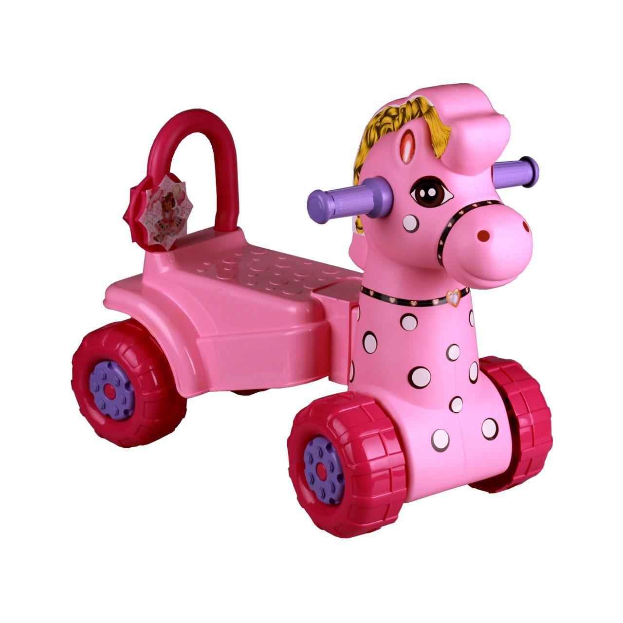 *Каталка Лошадка M3896 розовый